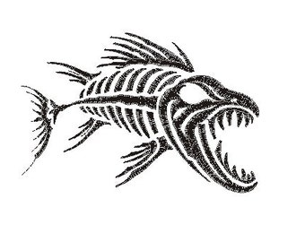 deep sea fish embroidery design