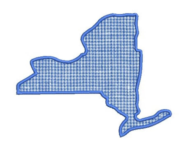 New york applique embroidery design etsy