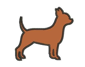 Chihuahua applique embroidery design