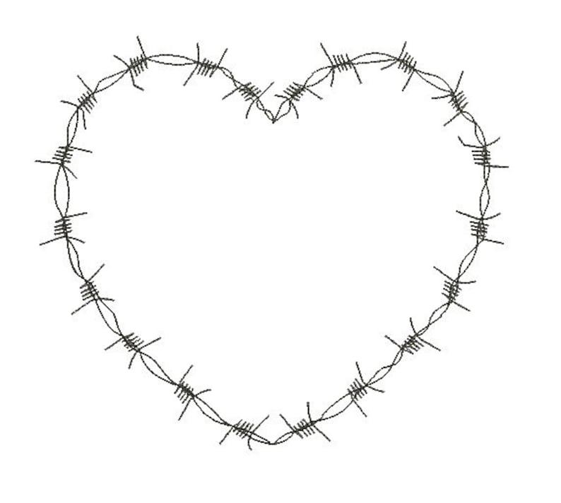 Barbed wire heart embroidery design  09e77bfeffcea