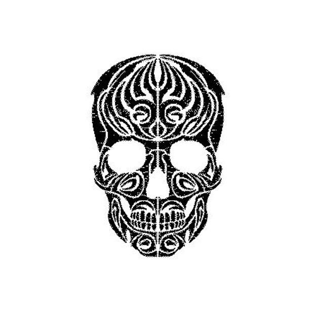 Tribal Skull Embroidery Design Etsy