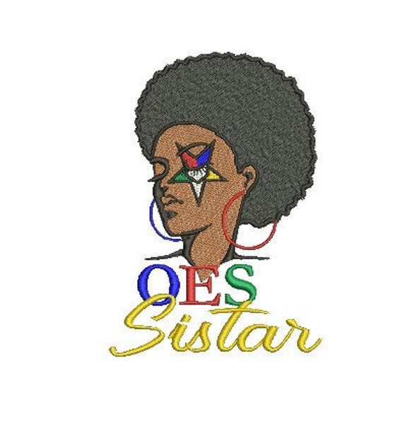 Oes Order Of The Eastern Star Sistar Embroidery Design  Etsy-8374