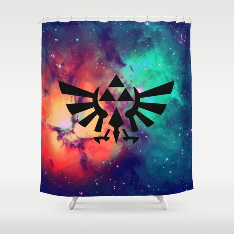 Zelda Shower Curtain Triforce On