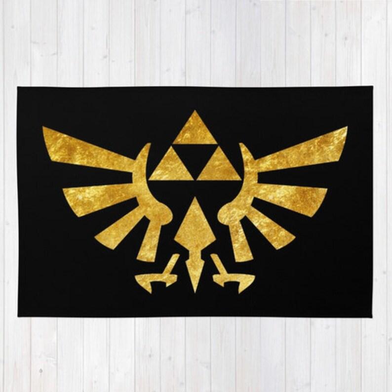 Tapis Dore De Zelda The Legend Of Zelda Tapis Tapis Dore De Etsy