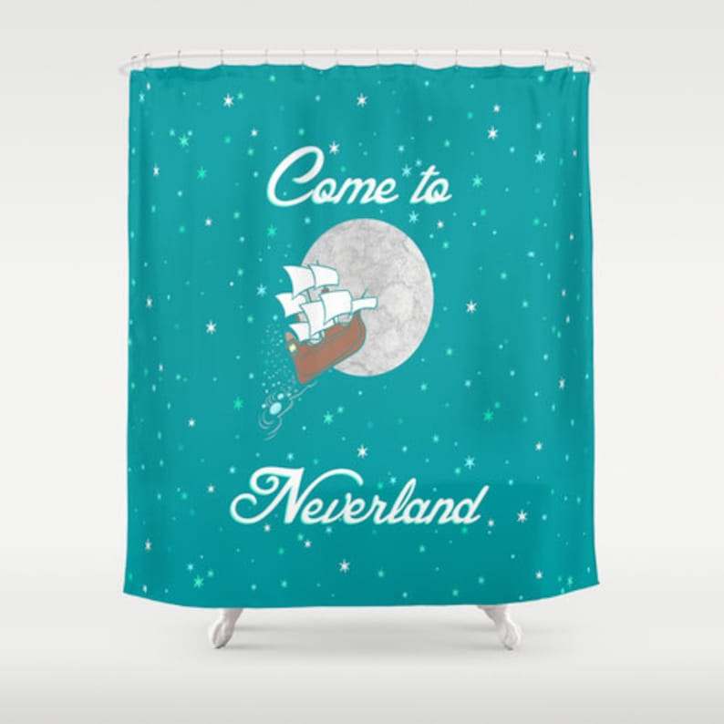Disneys Peter Pan Come To Neverland Shower Curtain