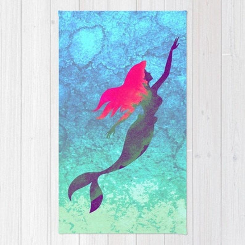 La Petite Sirene Tapis Tapis De Chambre Denfant Disney La Etsy