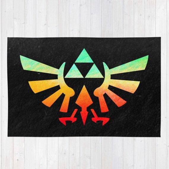 Tapis De Zelda Couleur Rasta Jette Tapis Tapis Emblême Hylien Triforce Tapis Tapis Zelda Homme Des Cavernes Tapis Tapis D Hyrule Crest