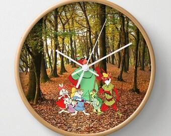 """10"""" Disney's Robin Hood Wall Clock"""
