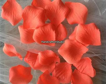 cef7872e122b8 Coral Wedding Flower Bulk Rose Petals 500pcs For Wedding Party Aisle Runner  Decor Coral Wedding Table Centerpieces Decorations HB-YSB-03