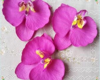 Silk flowers hair etsy 30pcs 910cm radiant purple orchids silk phalaenopsis artificial silk orchid flower heads fabric silk flowers hair clips diy crafts mightylinksfo