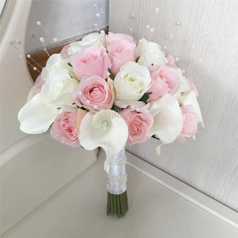 Light pink bouquet cream white bridal bouquet white calla etsy zoom izmirmasajfo