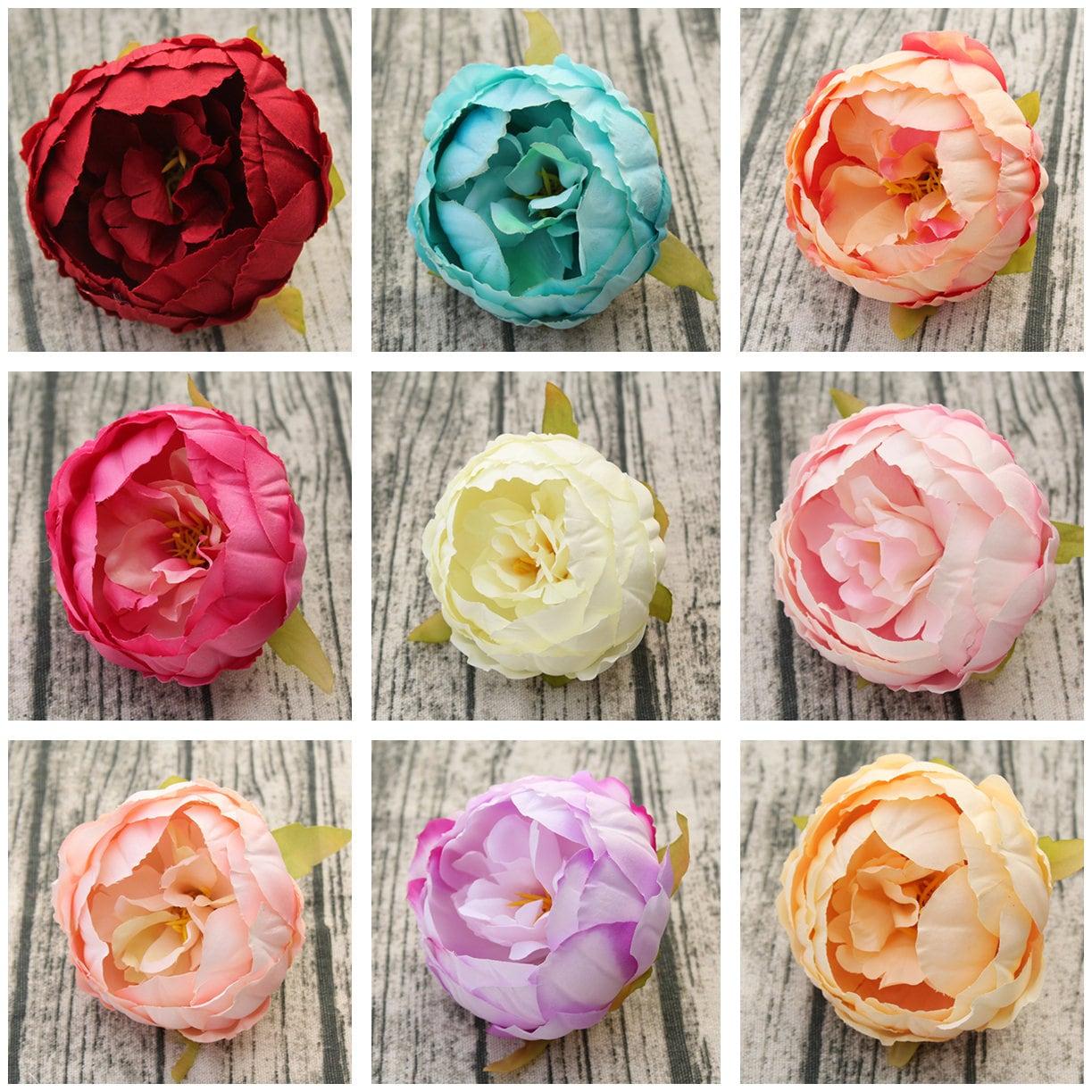 Wholesale Peony Flower Heads Artificial Silk Peonies 9cm 100 Etsy