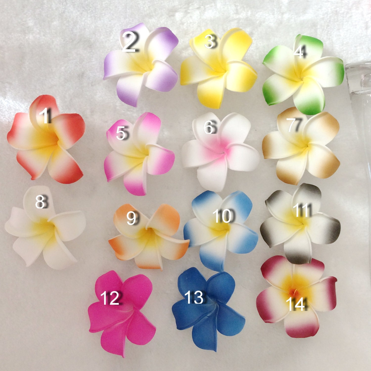 Foam Flowers Frangipani Plumeria Flowers 10pcs Various Colors Etsy