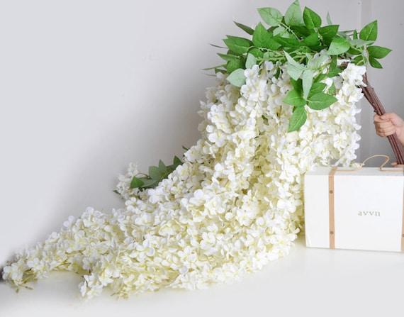 4pcs Artificial Flowers Silk Wisteria Garland 2 Meters Home Decor Garden Decor