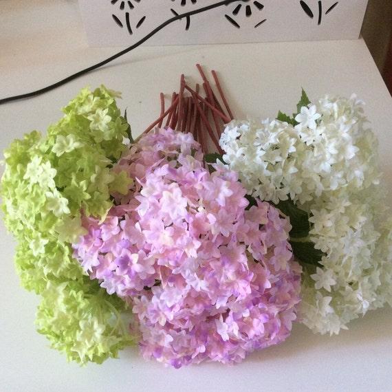 24 Stuck Seide Hortensien Hochzeit Anordnung Kunstliche Blumen Etsy