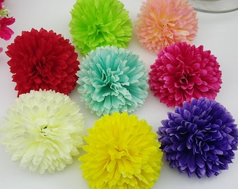 Bulk silk flowers etsy wholesale silk flower silk chrysanthemum 100 flower heads bulk 5cm for background flower corsages kissing balls mightylinksfo