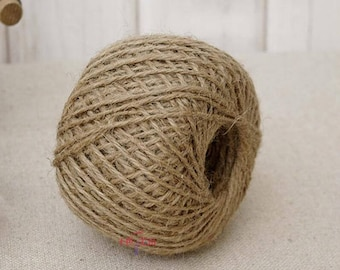 Natural Hemp Rope Gift Wrapping Rope 100 Meters Wedding Bouquet Wrapping 100% Organic Hemp Yarn, Hemp Cord 2MM, 33 MM Thickness