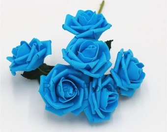 Turquoise Wedding Flowers Artificial Malibu Roses For Wedding Centerpieces  Bridal Bouquet Decoration 12 Bunches Turqoise Flowers LZ-YP72-05