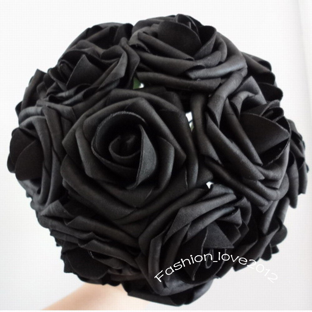 50 Pcs Black Wedding Flowers Artificial Flower Supplies Fake Etsy