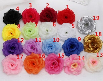 Flower heads bulk etsy wholesale silk flower heads artificial rose heads 3 bulk 100 flowers for wedding reception decoration mightylinksfo