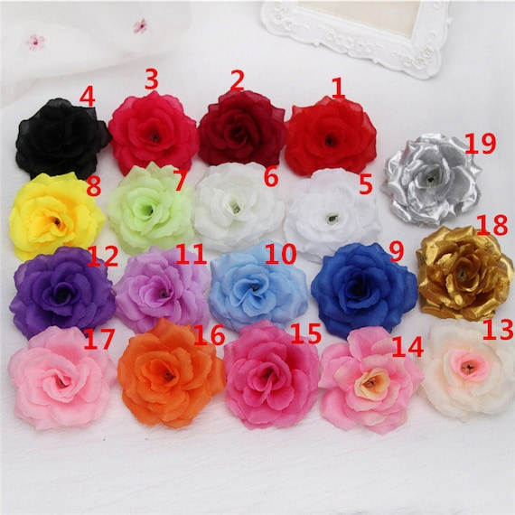 Wholesale silk flower heads artificial rose heads 3 bulk etsy image 0 mightylinksfo