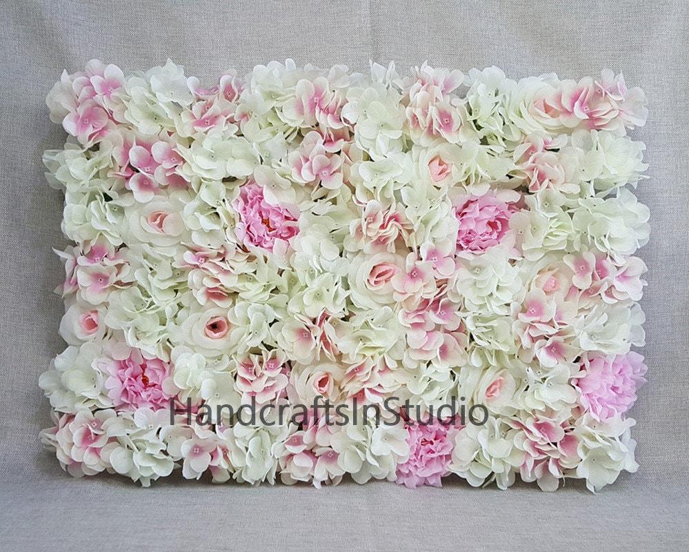 Wedding Flower Wall Backdrops Silk Hydrangea Peony Roses Etsy