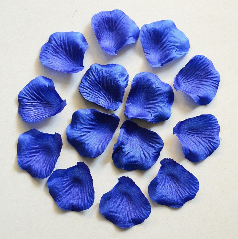 Royal Blue Rose Petals Bulk Silk Rose Petals Fake Flower Etsy