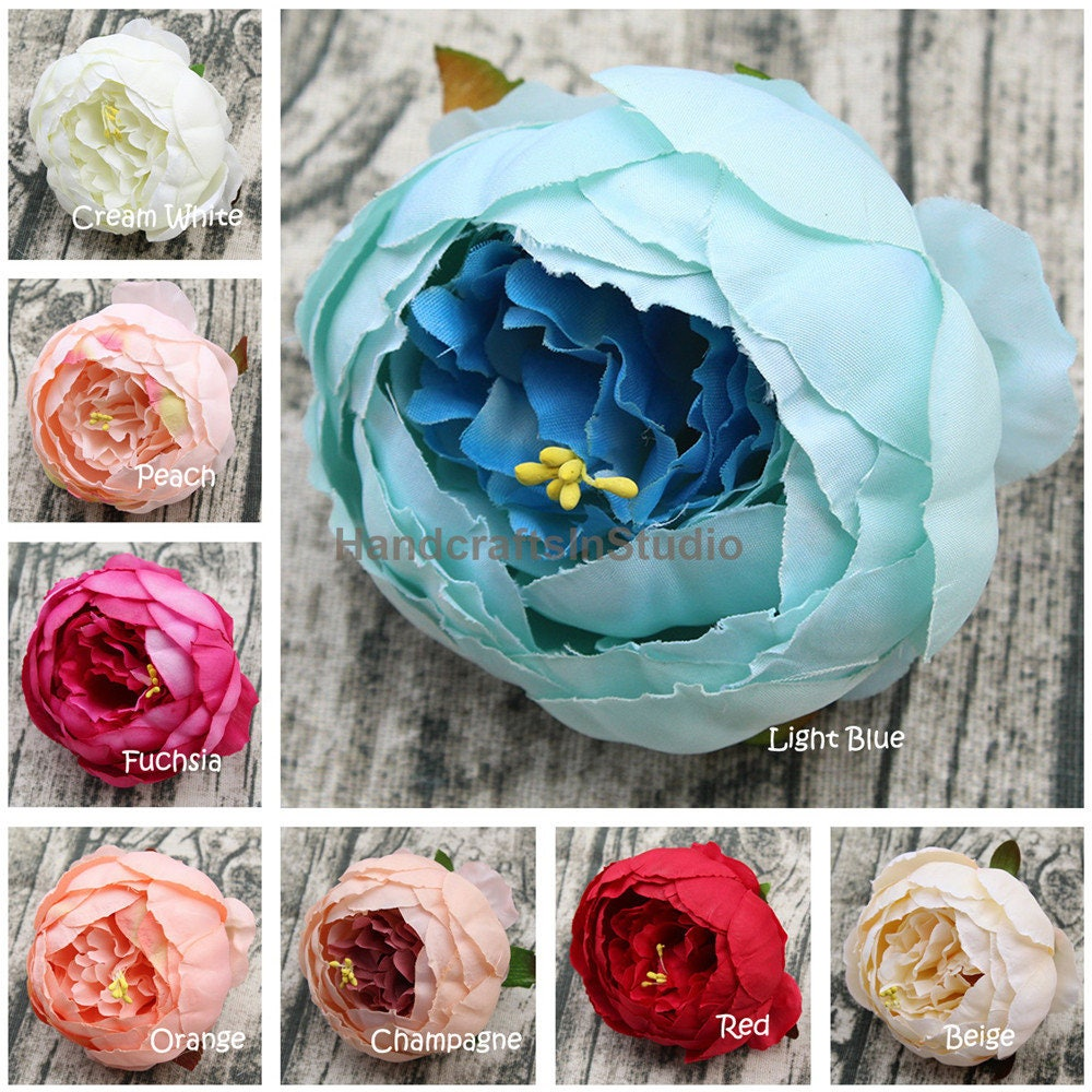 Silk Peony Flowers Bulk Artificial Silk Peonies 100 Flower Etsy