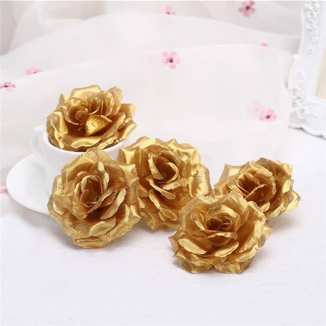 Wholesale Silk Flower Heads Artificial Rose Heads 3 Bulk 100