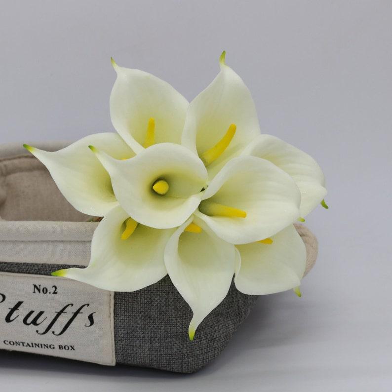 cbf60c62f28461 Cream White Calla Lily Bouquet Real Touch Flowers Ivory Calla | Etsy