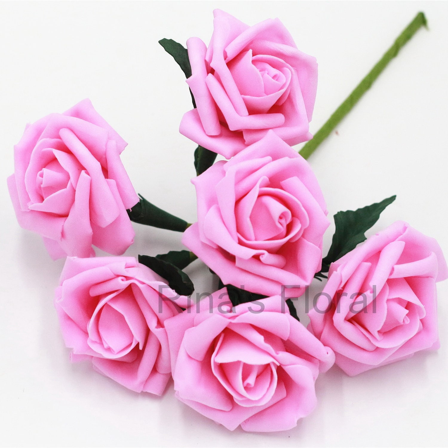 Pink Artificial Flower Supplies Bright Pink Rose Flower For Etsy