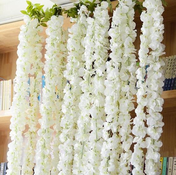 Wedding arch garland white wisteria silk flower garland home etsy image 0 mightylinksfo