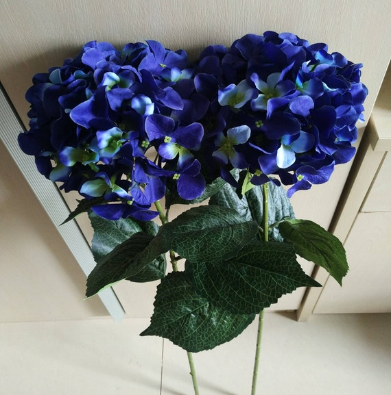 Blue Hydrangea Wedding Flowers: Navy Blue Flowers Silk Hydrangea Navy Blue Wedding