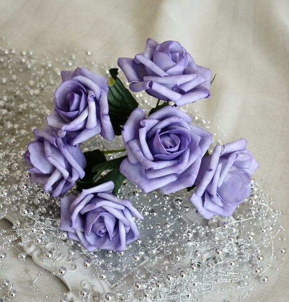 Light Purple Flowers Lavender Wedding Decorations Table Etsy
