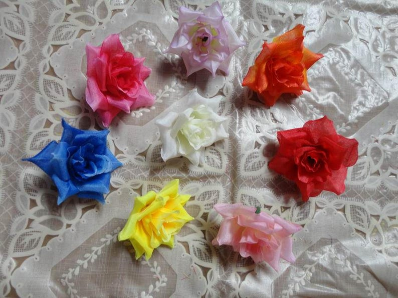 Silk Rose Heads Faux Artificial Flower Heads 100pcs 4cm For Etsy
