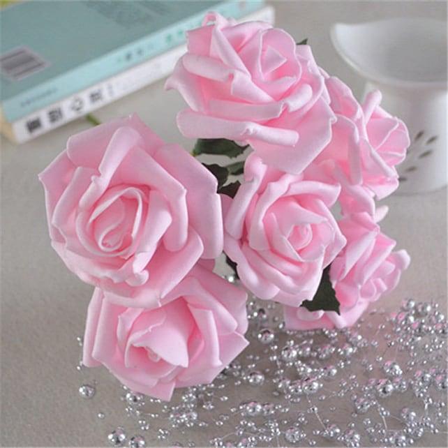 Faux flowers baby pink roses artificial flower foam flowers etsy image 0 mightylinksfo