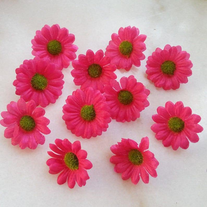 Mini Gerbera Daisy Sunflowers Flower Heads 4cm Silk Daisy Mini Flowers 100pcs Wholesale Flowers For DIY Crafts Hair Clips Clothes CJ-XZJ