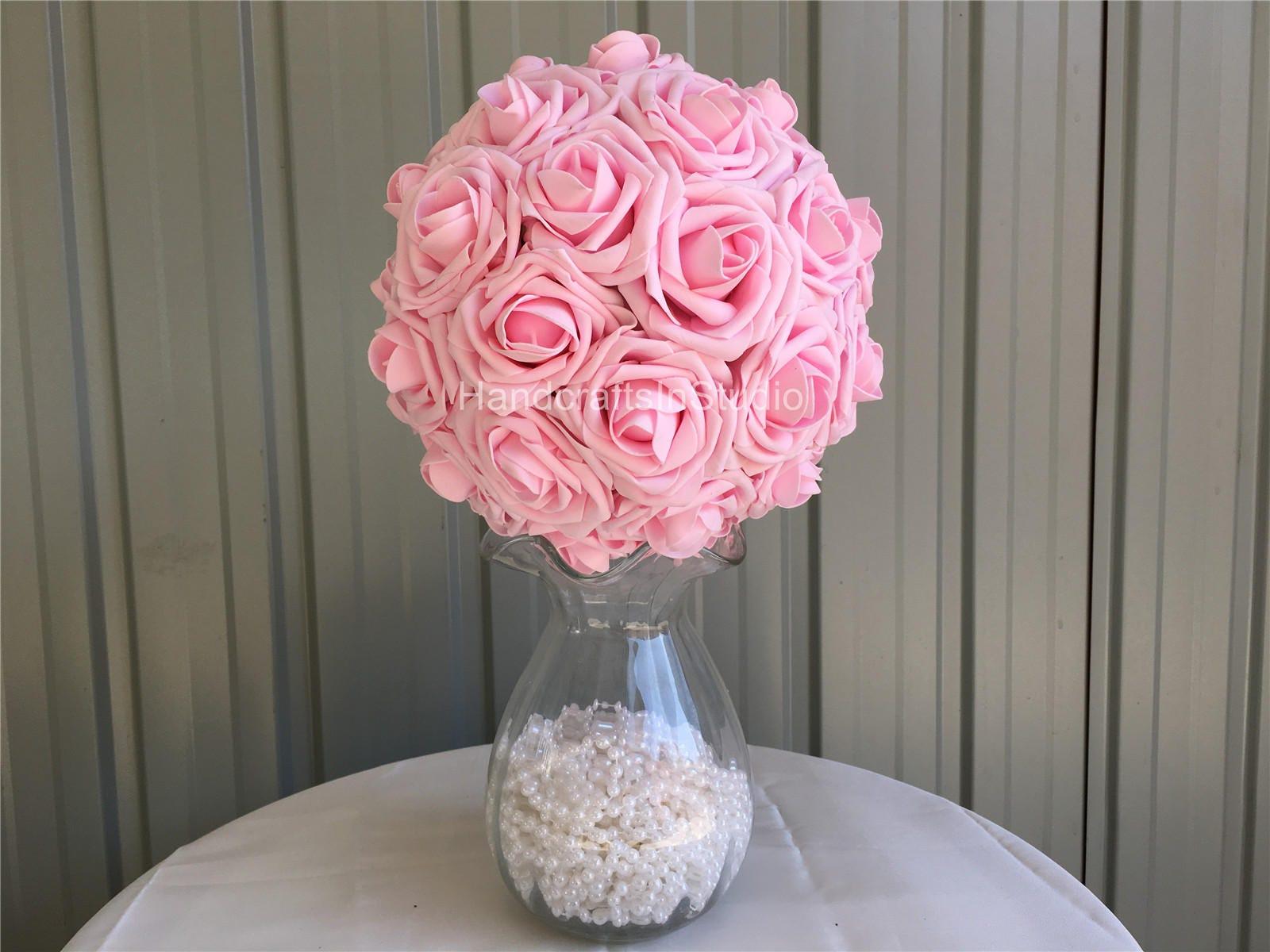 Baby Pink Flower Ball Kissing Balls Flower Girl Pomander Etsy