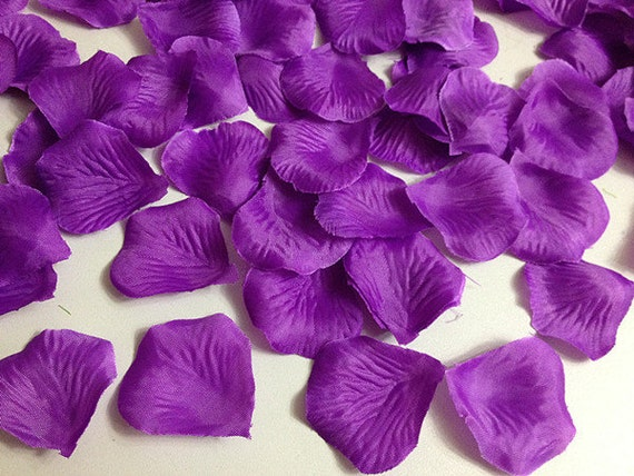 Dark purple rose petals bulk silk rose petals flower petals etsy image 0 mightylinksfo
