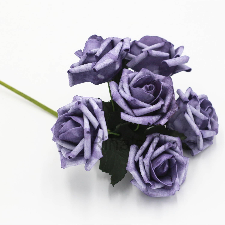 Vintage Purple Wedding Flowers Faux Roses Fall Flowers Etsy