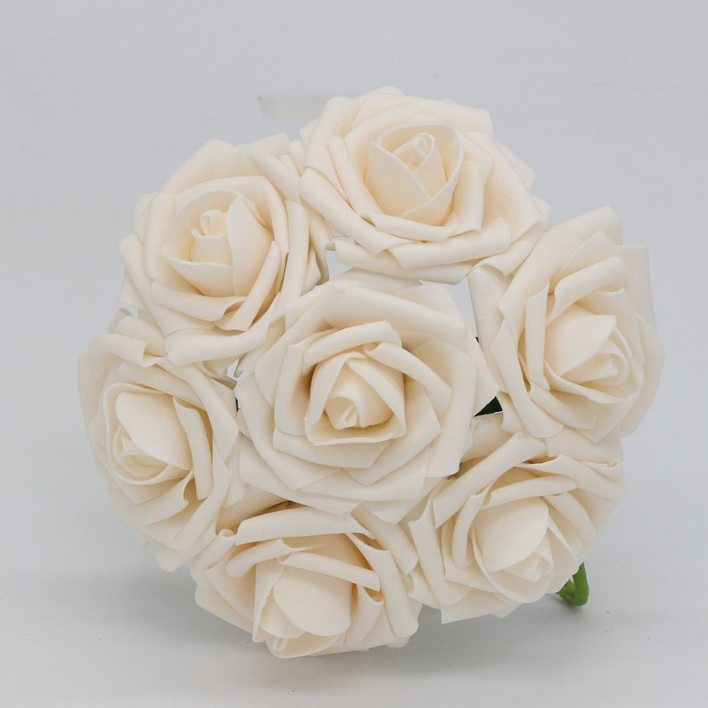 Wedding Flowers Ivory Roses Champagne Roses Artificial 100 Stems For Wedding Centerpieces Floral Wedding Bridal Bouquet Flower LNPE017