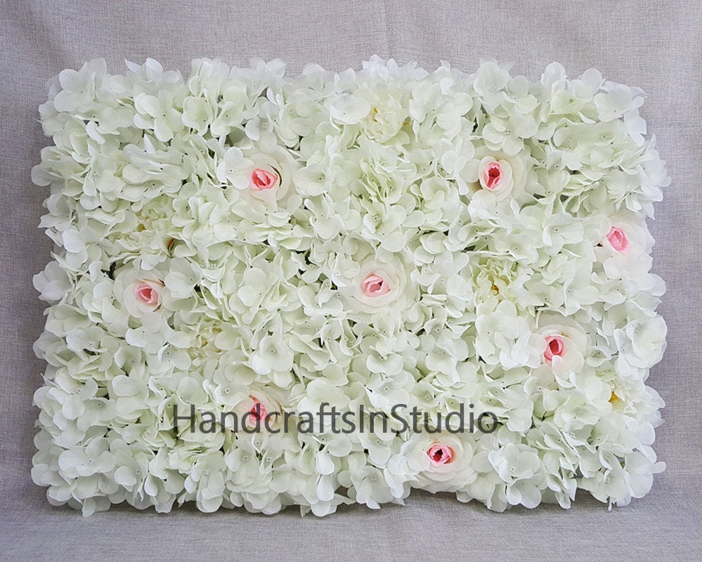 Flower Wall Backdrops Silk Flowers Wall Background For Wedding Etsy