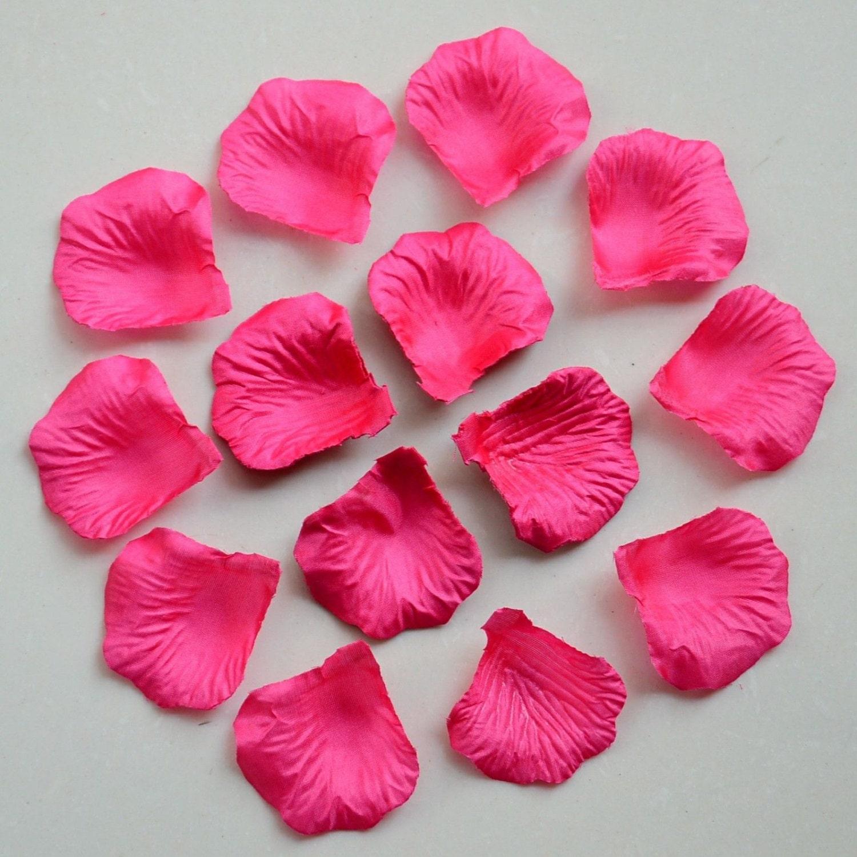 Fuchsia Rose Petals Bulk Silk Rose Petals Hot Pink Artificial Etsy