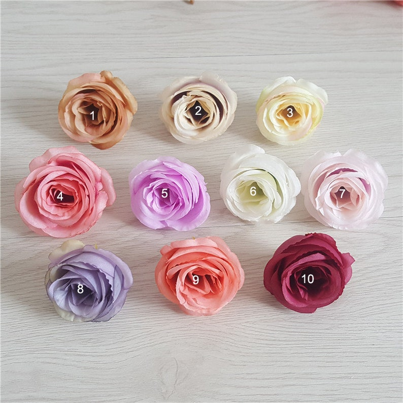 Wholesale Silk Flower Heads Quality Artificial Flowers 5cm Etsy