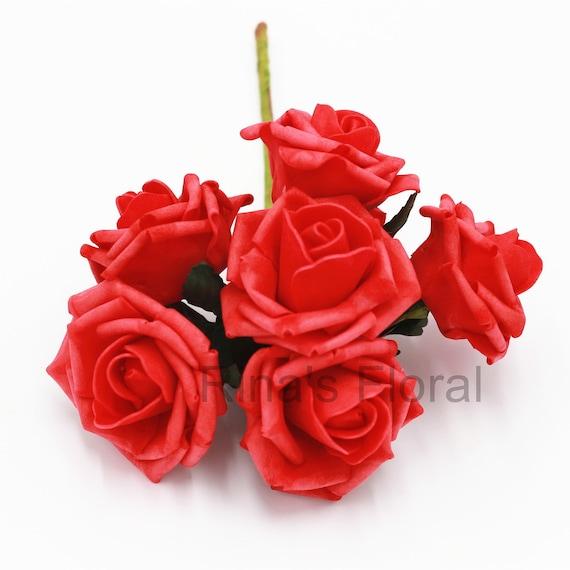 Rote Rosen Kunstblumen Kunstliche Hochzeit Blumen Rot Etsy