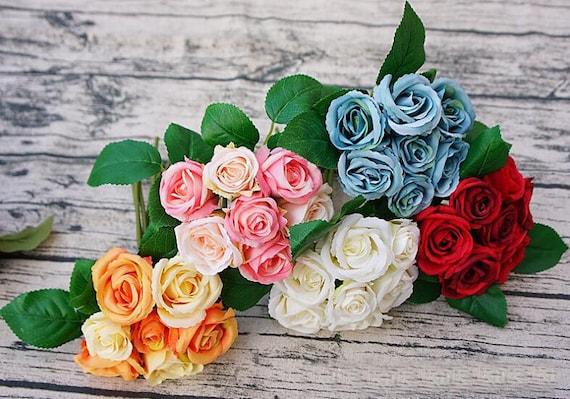 Fruhling Hochzeit Blumen Kleine Blume Blumenstrauss Seide Rose Etsy