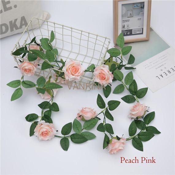 Artificial Flower Garland Silk Rose Vine Wedding Chair Decor 2 Etsy
