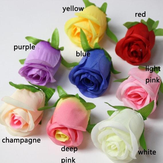 3 X LARGE ROSES ROSEBUDS WEDDING DRESS TABLE DECORATION BOUQUET FLOWERS  6cm