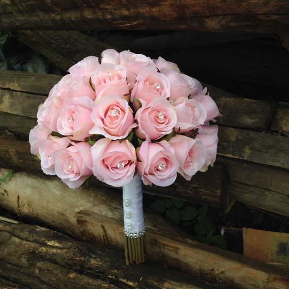 Bouquet Sposa Rose Rosa.Bouquet Da Sposa Di Boccioli Di Rose Rosa Bouquet Bouquet Di Etsy
