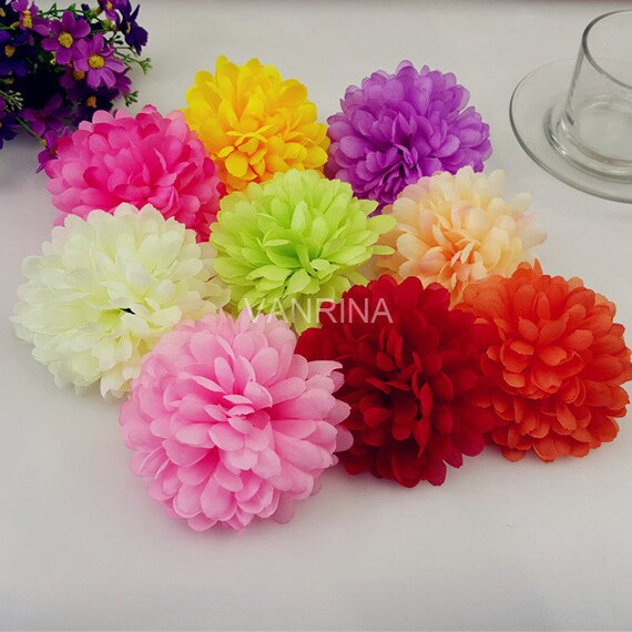 Bulk Silk Flowers Artificial Flower Heads Daisy 100 Flowers Etsy